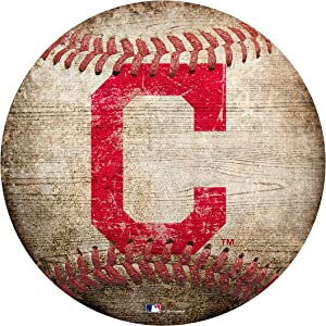 "Indians 12"" Baseball Shaped Sign"