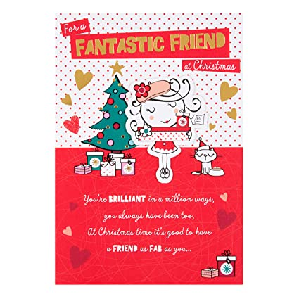 Hallmark Tarjeta Navidad para un amigo, tamaño mediano ...