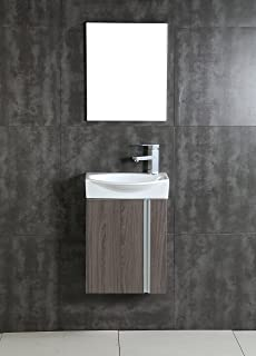 Vanity And Sink For Small Bathroom. Fine Fixtures Compacto Small Bathroom Vanity Set With Sink  Wall Hung Cabinet Amazon com and Mirror