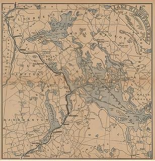 Historic Pictoric Map | Boston & Lowell Railroad Maps, Lake Winnipesaukee & Surroundings 1886 Transit