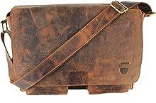 MIO von RICANO, Umhängetasche aus Rind Nappa Echtleder in vintage braun