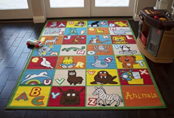 Amazon Com 8x10 Kids Boys Children Toddler Playroom Rug Nursery