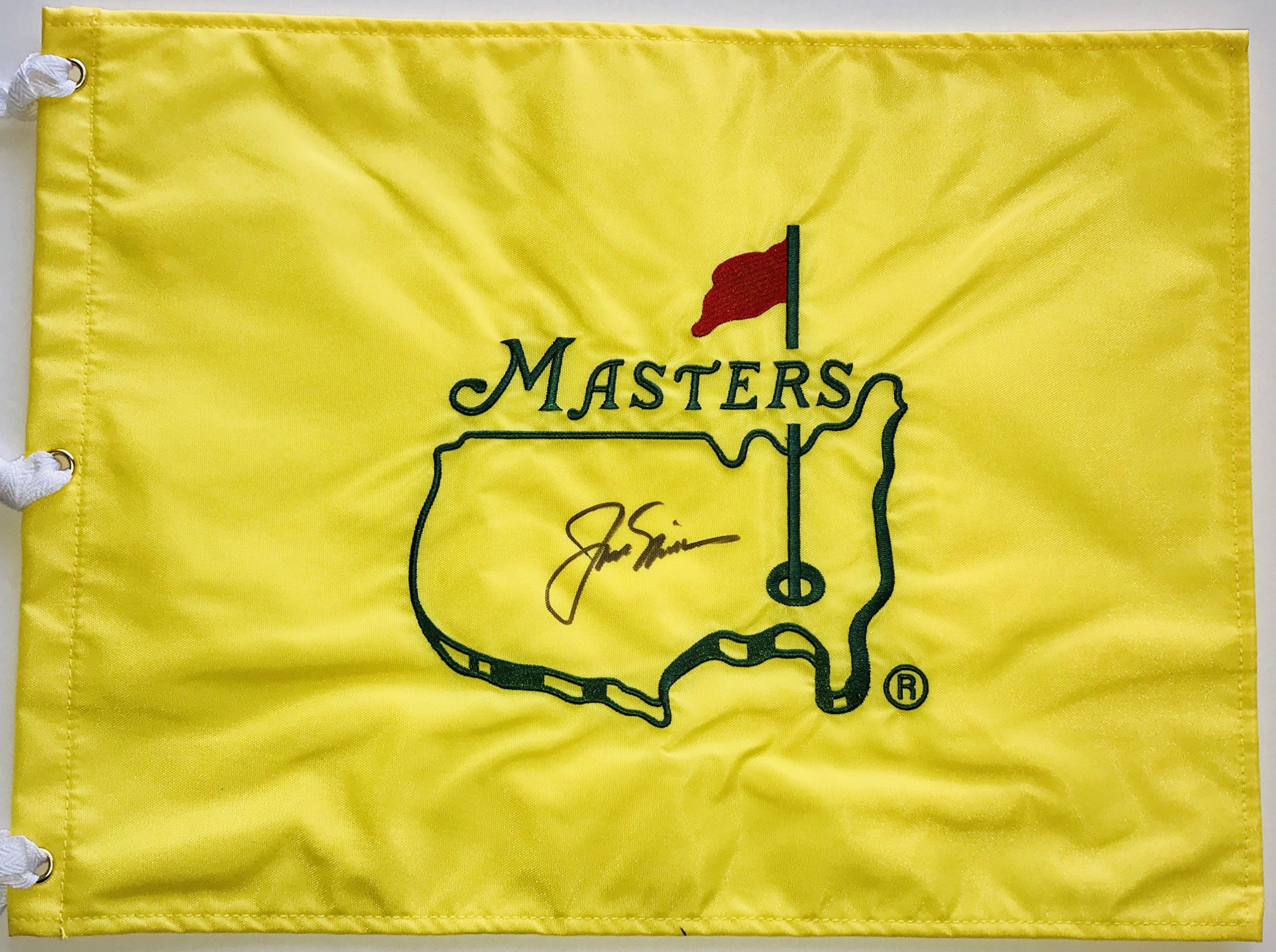 Jack Nicklaus signed Masters flag undated with psa dna loa augusta national golf