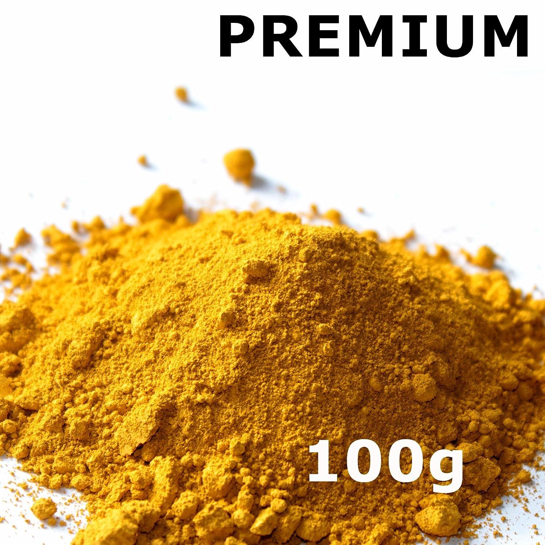 Pigmentpulver, Eisenoxid, Oxidfarbe - 100g (29,90€ /kg) im Beutel Farbpigmente, Trockenfarbe fü r Beton + Wand - Farbe: gelb arcotec Mobilfunktechnik