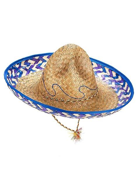 Sombrero mejicano paja adulto  Amazon.es  Juguetes y juegos b2602aea66a