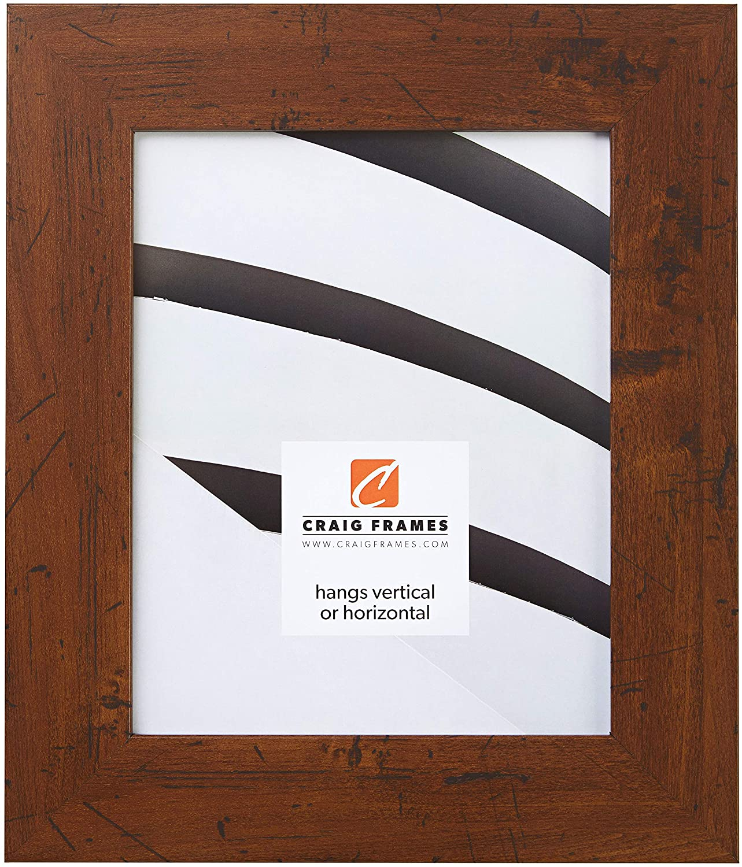 Craig Frames FM74DKW 16 by 20-Inch Picture Frame, Smooth Finish, 2-Inch Wide, Dark Brown