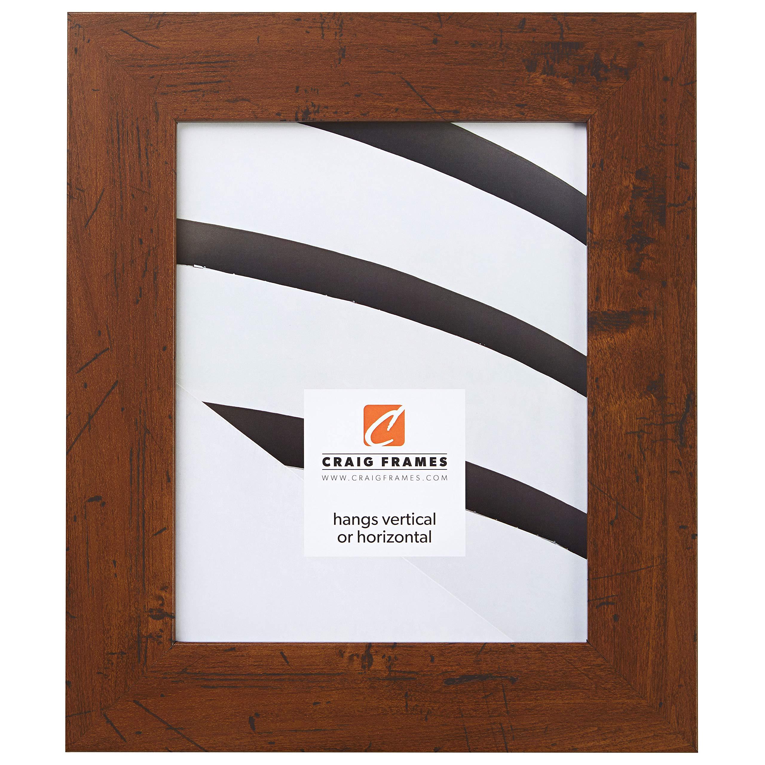 Craig Frames FM74DKW 11 by 14-Inch Rustic Photo Frame, Smooth Grain Finish, 2-Inch Wide, Dark Brown by Craig Frames