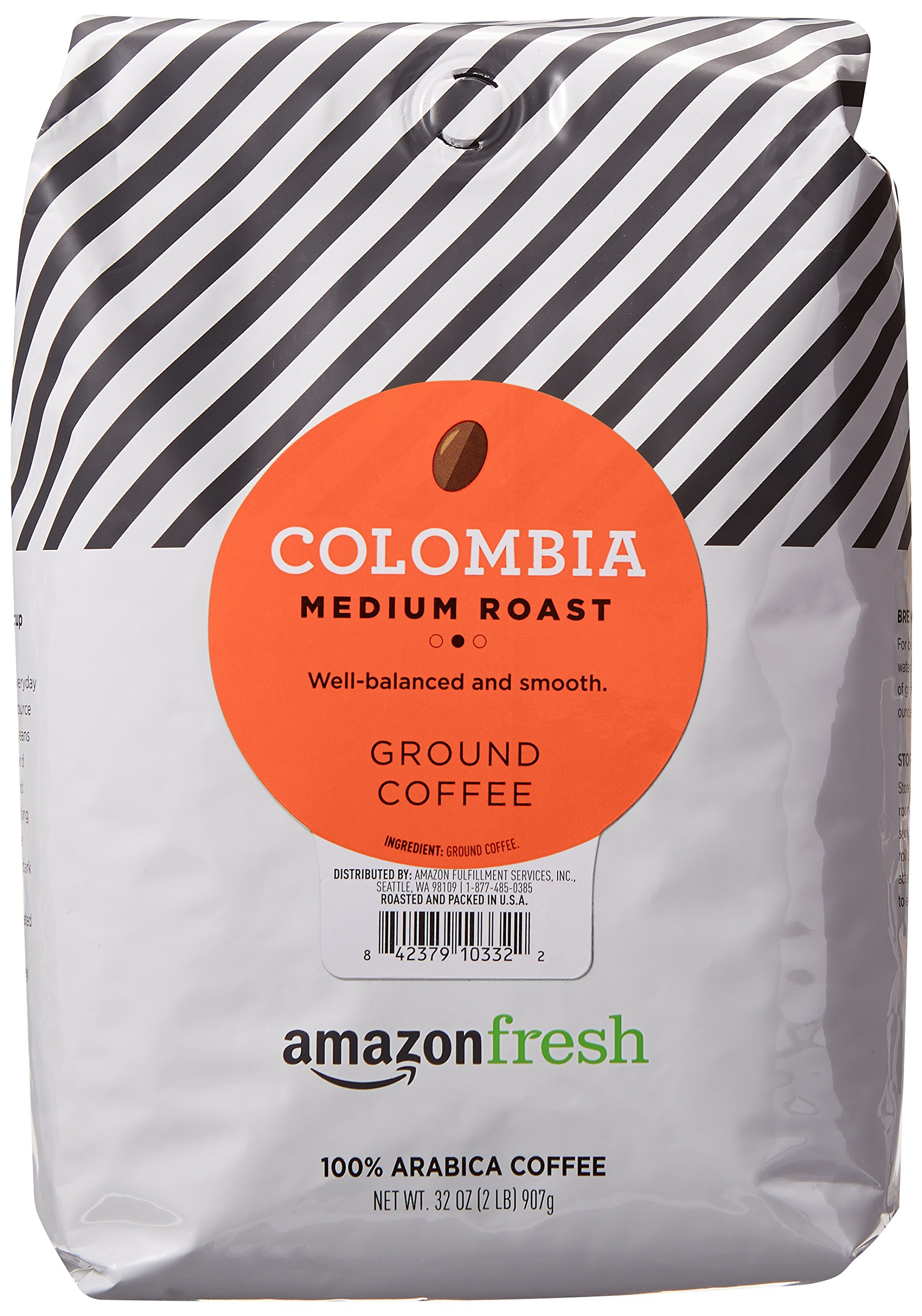 AmazonFresh Colombia Ground Coffee, Medium Roast, 32 Ounce by AmazonFresh