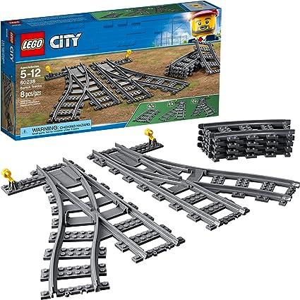 Lego City Curved Round Train Track x 8 *FREE P/&P* Lego Job Lot Bundle Set