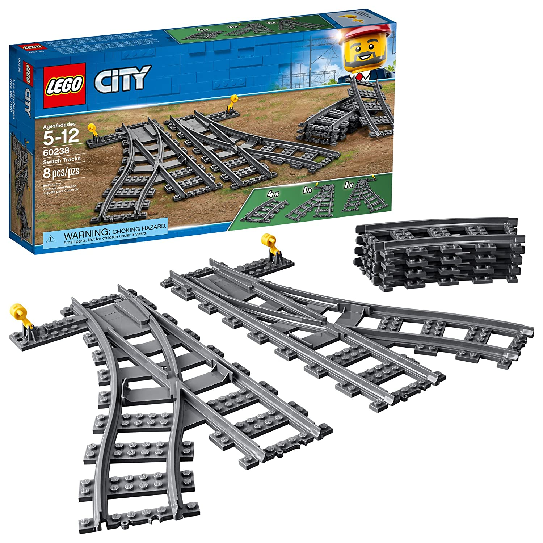 LEGO City Switch Tracks 60238 Building Kit (6 Piece) LEGO City Trains 6250164