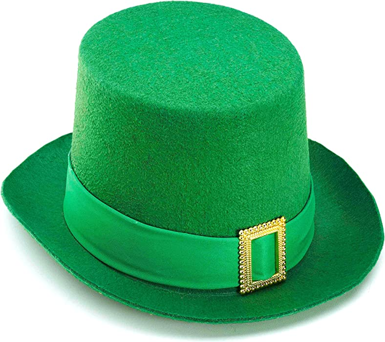 2091ab2f7b2be Amazon.com  Forum Novelties Beistle Green Vel-Felt Top Hat 1-Pack ...