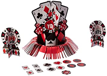 Kit De Decoración Para Mesas Con Diseño De Casino De Amscan