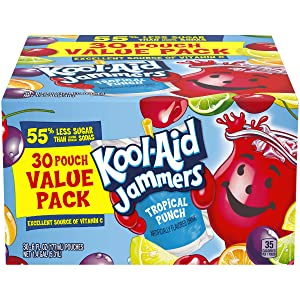 Kool-Aid Jammers Tropical Punch Flavored Juice Drink (30 Pouches)