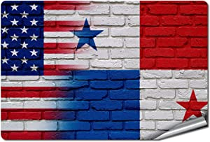 "ExpressItBest 5"" x 7"" Decal/Sticker/Skin with Flag of Panama - Bricks w USA Flag - UV Resistant - Outdoor Quality - Lasts for Years"