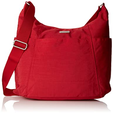 Baggallini Hobo Lightweight Tote  MultiPocketed  WaterResistant Travel Purse with Wristlet  DKUHEUYCP