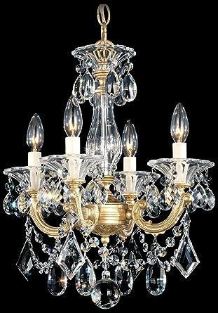 La scala 4 light 18 h chandelier in roman silver with clear spectra la scala 4 light 18quot h chandelier in roman silver with clear spectra crystal aloadofball Images