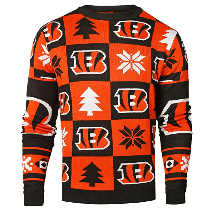 fc8d436e LOS ANGELES RAMS 2016 PATCHES UGLY CREW NECK SWEATER