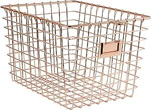 Spectrum Diversified Wire Storage Basket, Small, Copper
