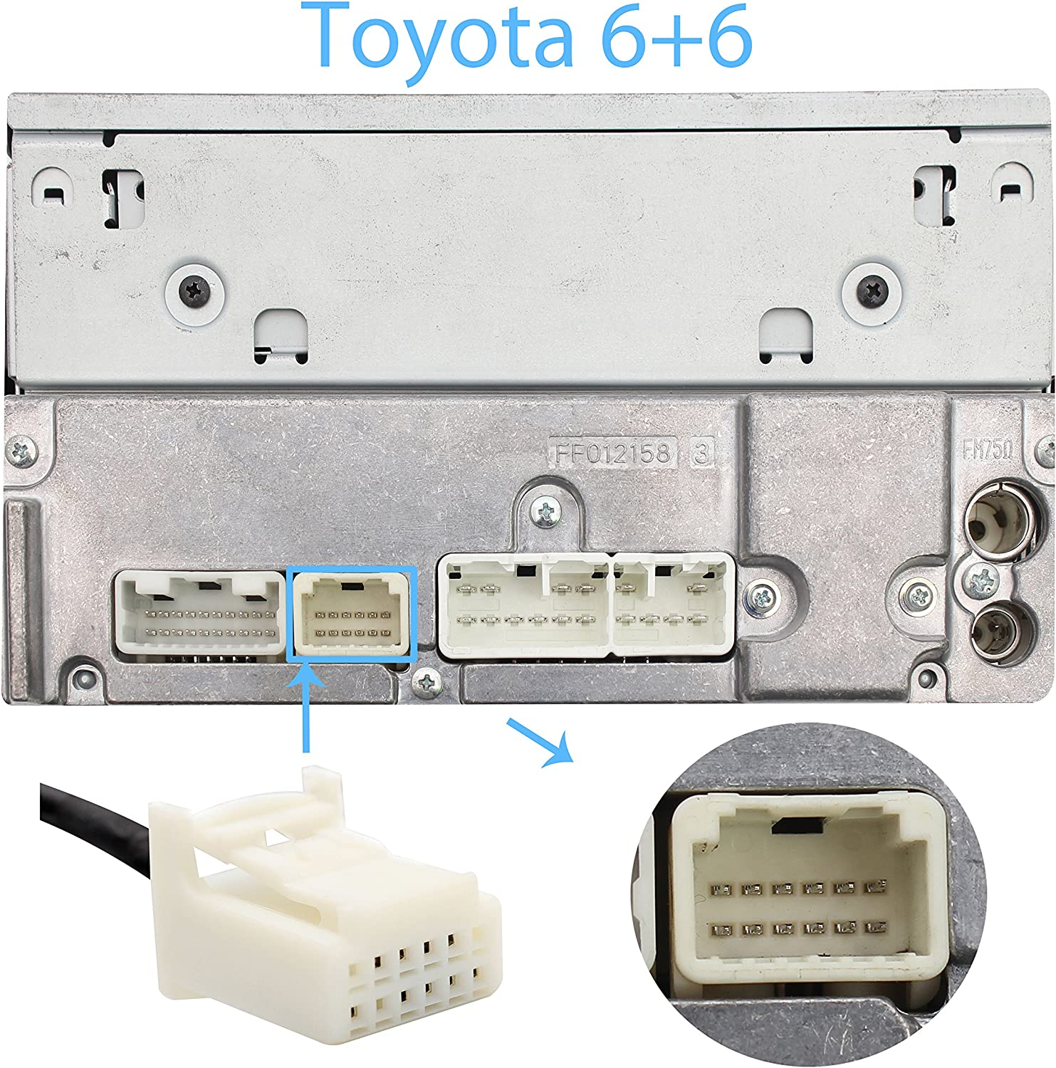 6+6 Wyness Car MP3 USB//AUX 3.5mm Stereo Wireless Music Receiver Wireless Hands Free Auto Bluetooth Adapter Fit for Toyota Pin Camry Tacoma Corolla Tundra RAV4 Lexus RX GS is