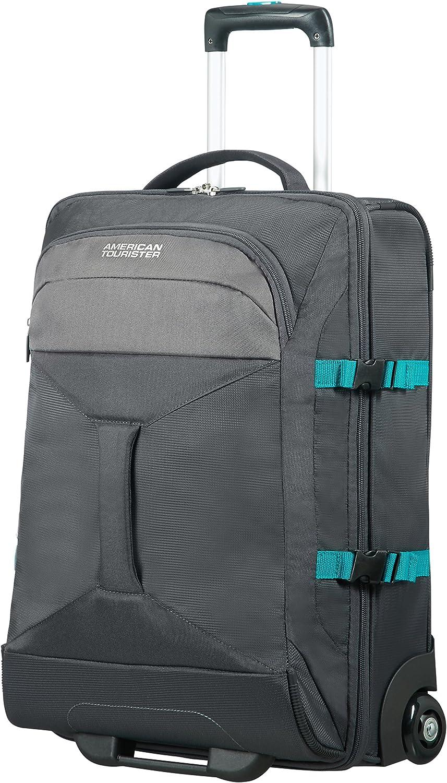 Grey//turquoise 40 liters Gris 2 Compartments Wheeled Duffle 55//20 Bolsa de viaje 55 cm AMERICAN TOURISTER Road Quest