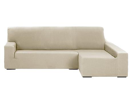 Martina Home Tunez Funda Elástica para Sofá Chaise Longue, Brazo Derecho, color Marfil, tamaño desde 240 a 280 cm