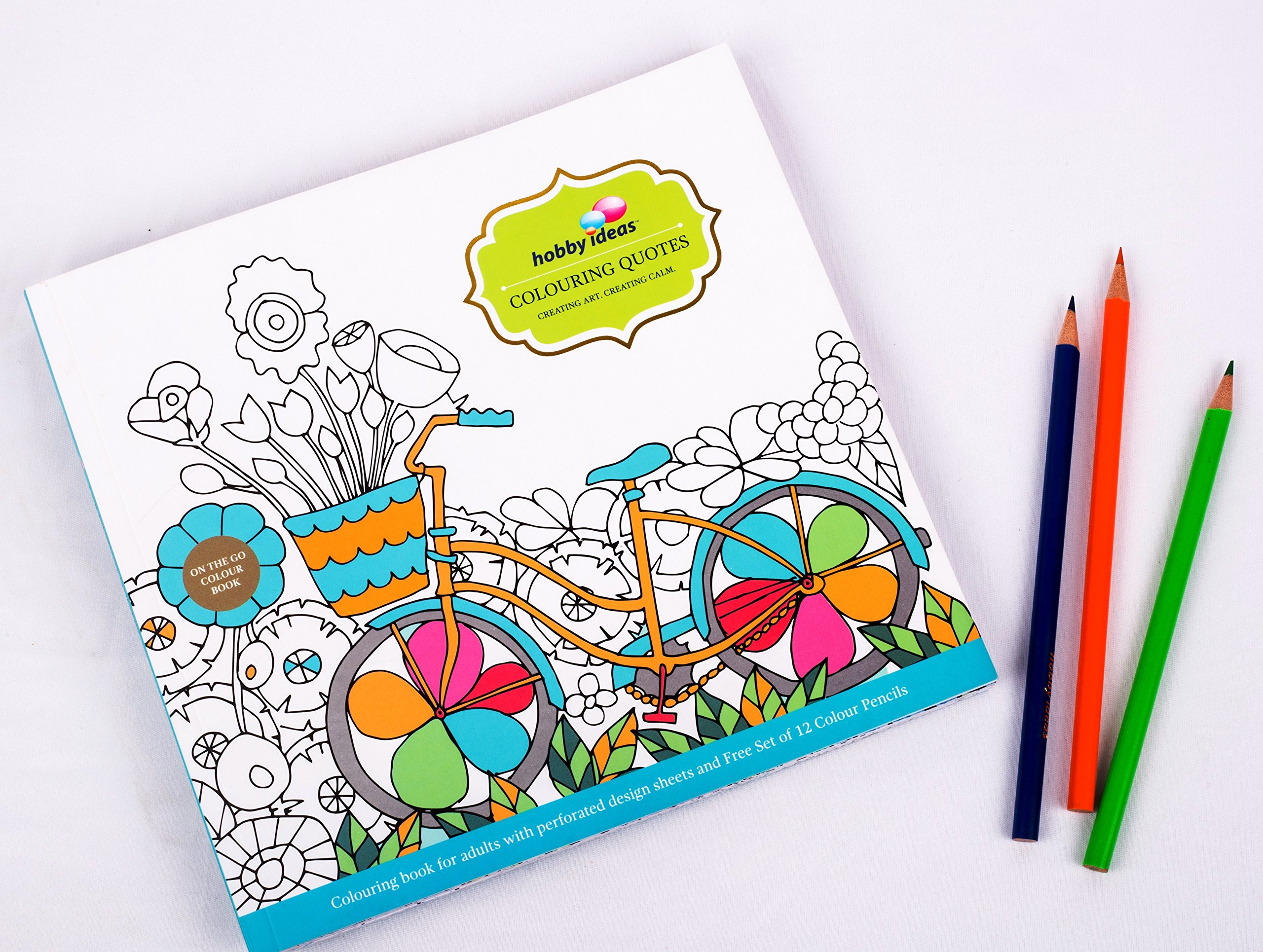 Buy Hobby Ideas Colouring Quotes Adult Book With Set Of Pencil Colours Free Online At Low Prices In India