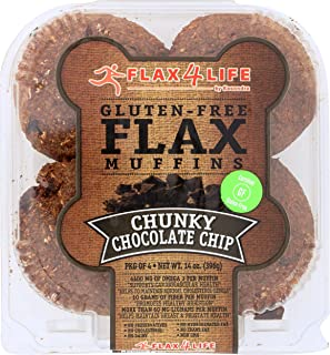 product image for FLAX4LIFE Gluten Free Flax Muffins, Chunky Chocolate Chip, 14 Ounce (Pack of 6)
