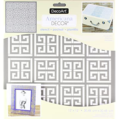 DecoArt DECADS.25 Americana Decor Stencil Greek Key: Arts, Crafts & Sewing