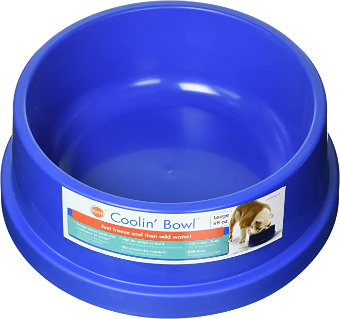 K&H Pet Products Coolin' Water Bowl for Dogs and Cats