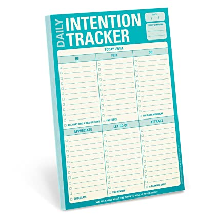 amazon com knock knock daily intention tracker note pad 12270