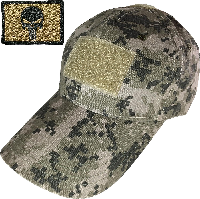 Gorra de béisbol táctica militar digital de camuflaje militar con parche de calavera de operador moral táctico, color marrón coyote (RR-TCAP-SACU-PUN-COYT): Amazon.es: Ropa y accesorios