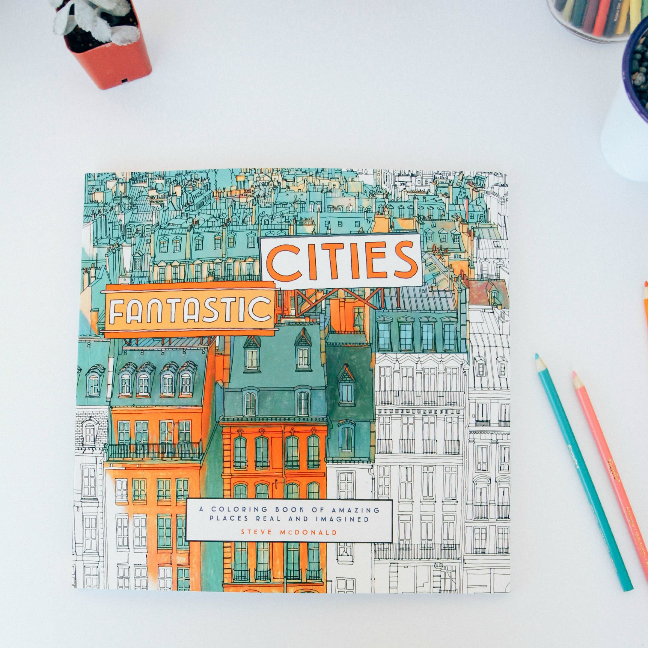 Fantastic Cities A Coloring Book Of Amazing Places Real And Imagined Steve McDonald 0499995260320 Books