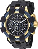 Invicta Men's 'Bolt' Quartz Stainless Steel and Silicone Casual Watch, Color:Black (Model: 23862)