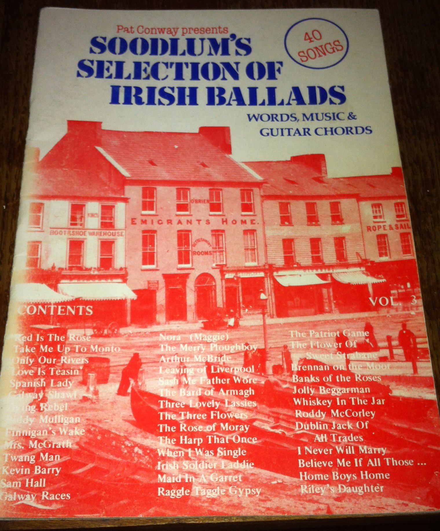 Soodlums Selection Of Irish Ballads Words Music And Guitar Chords