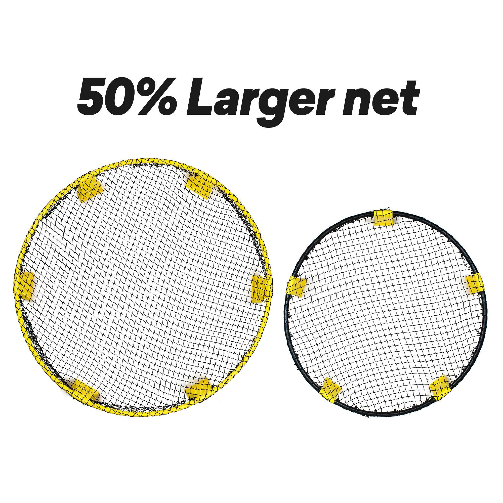 Spikeball Starter Kit - 50% Larger Net and Ball - Played Outdoors, Indoors, Yard, Lawn, Beach - Designed for Kids 12 and Under by Spikeball (Image #2)