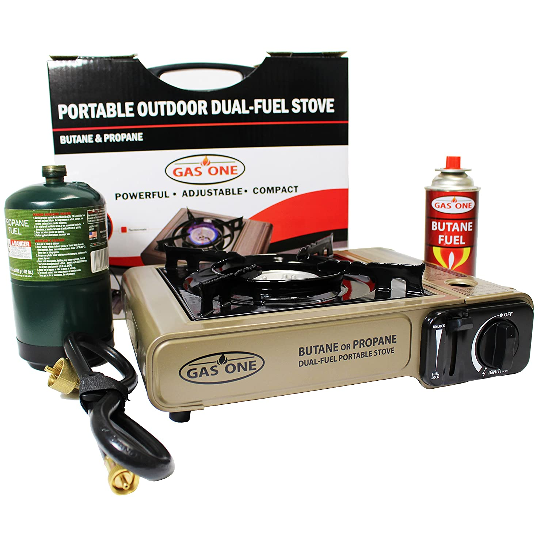 Amazon.com : GAS ONE Propane or Butane Stove GS-3400P Dual Fuel ...