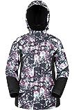Mountain Warehouse Chaqueta de esquí Dawn para Mujer - Impermeable a la Nieve, Abrigo de esquí con Forro Polar, puños, bajo y Capucha Ajustables