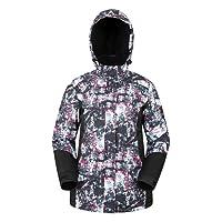 Mountain Warehouse Dawn Veste du ski des femmes - Snowproof, dames chaudes veste, ouatine a rayé le manteau de ski, la manchette réglable, le bord et le capot