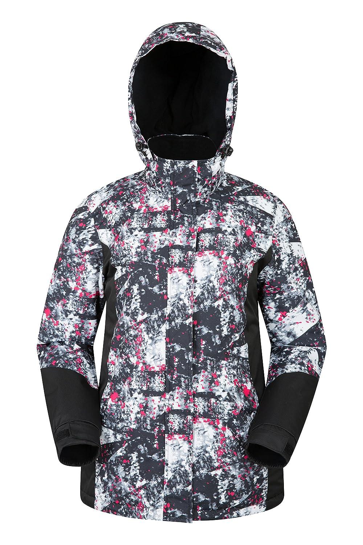 TALLA 38. Mountain Warehouse Chaqueta de esquí Dawn para Mujer - Impermeable a la Nieve, Abrigo de esquí con Forro Polar, puños, bajo y Capucha Ajustables