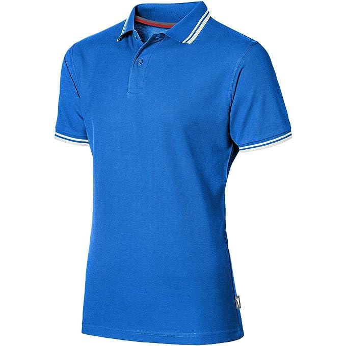 Polo de manga corta para hombre, de la marca Slazenger Azul azul marino Medium