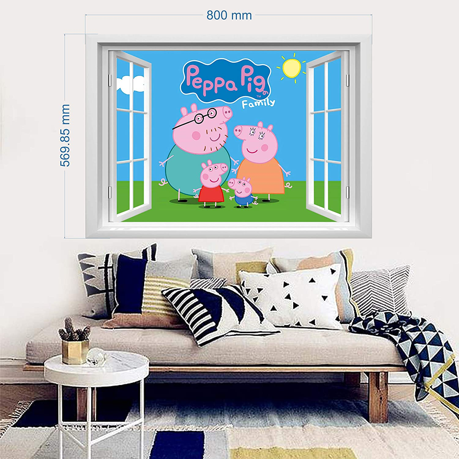infans PEPPA PIG wall stickers Peppa Pig Family wall murals peppa pig bedroom boys girls wall decals