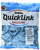 """Pioneer Balloon 50 Count Pearl Quick Link Latex Balloons, 12"""", Light Blue"""