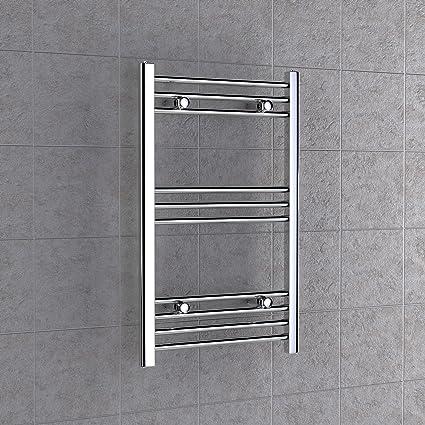 Plano cromo radiador toallero 800 mm x 400 mm baño calefactor