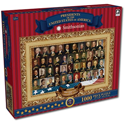 1000 Piece Puzzle Presidents of The United States of America Smithsonian: Toys & Games