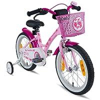 PROMETHEUS® Premium Vélo pour enfants à partir d'env. 4-5   Edition Classic 16 Pouces   Couleur Rose & Blanc