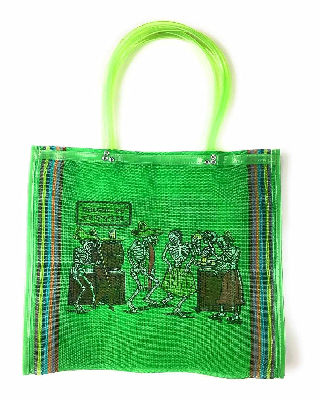 Día de los muertos bolso, Dia de los muertos, bolsa de la compra de la compra, bolsa de la compra, 100% reciclado de botellas de plástico de México, ...