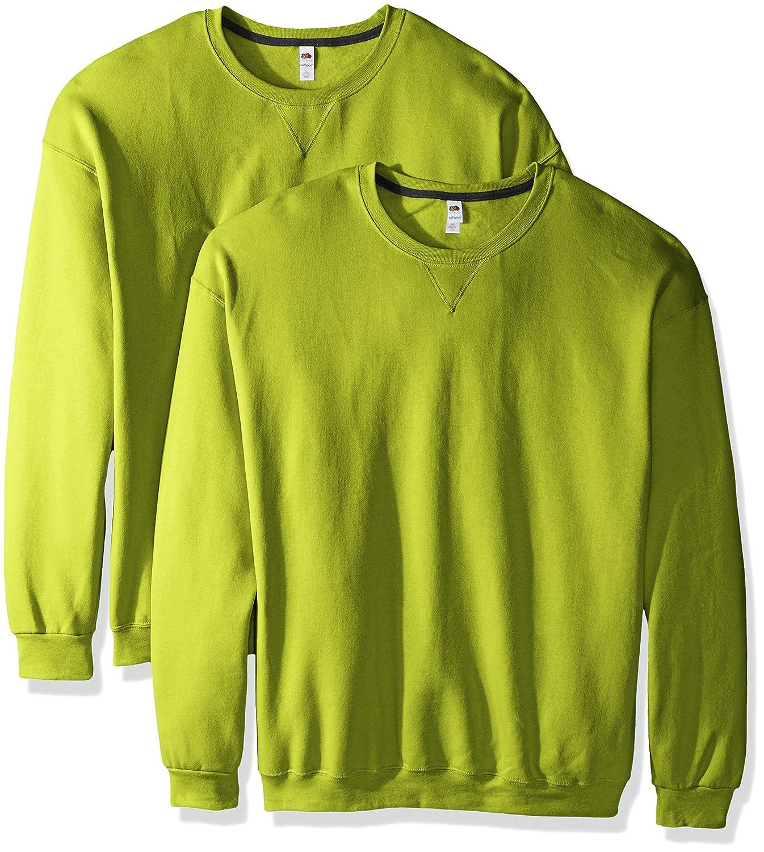 Fruit of the Loom Mens Crew Sweatshirt 2 Pack