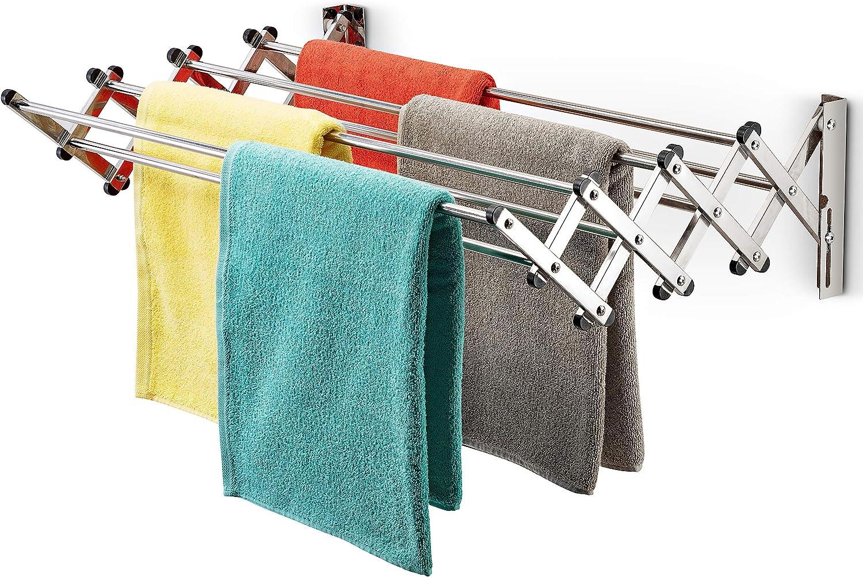 Bartnelli Accordion Wall Mounted Towel Drying Rack for Bathroom