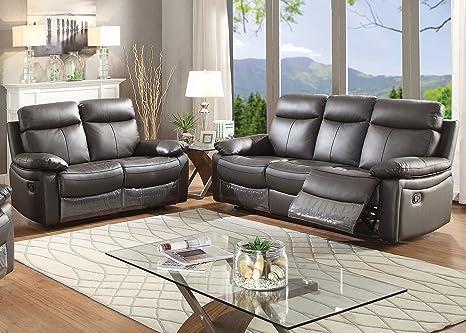 Fantastic Amazon Com Christies Home Living 2 Piece Ryker Leather Dailytribune Chair Design For Home Dailytribuneorg