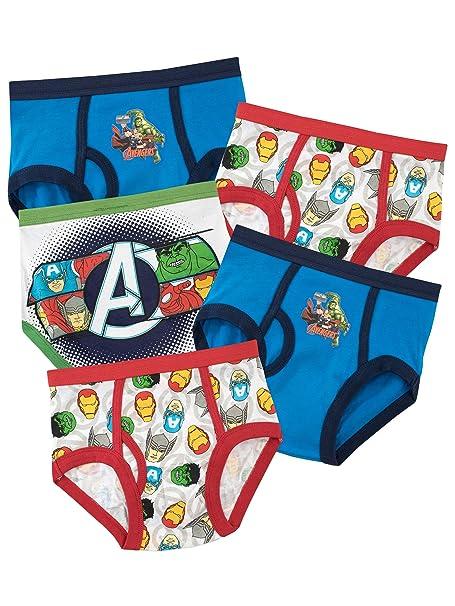 Marvel Ropa Interior para niños Avengers - Paquete de 5-18 a 24 Meses